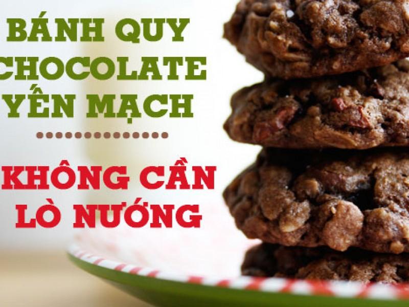 Hướng dẫn làm bánh Cookies Chocolate yến mạch cho buổi tối nhẹ nhàng.