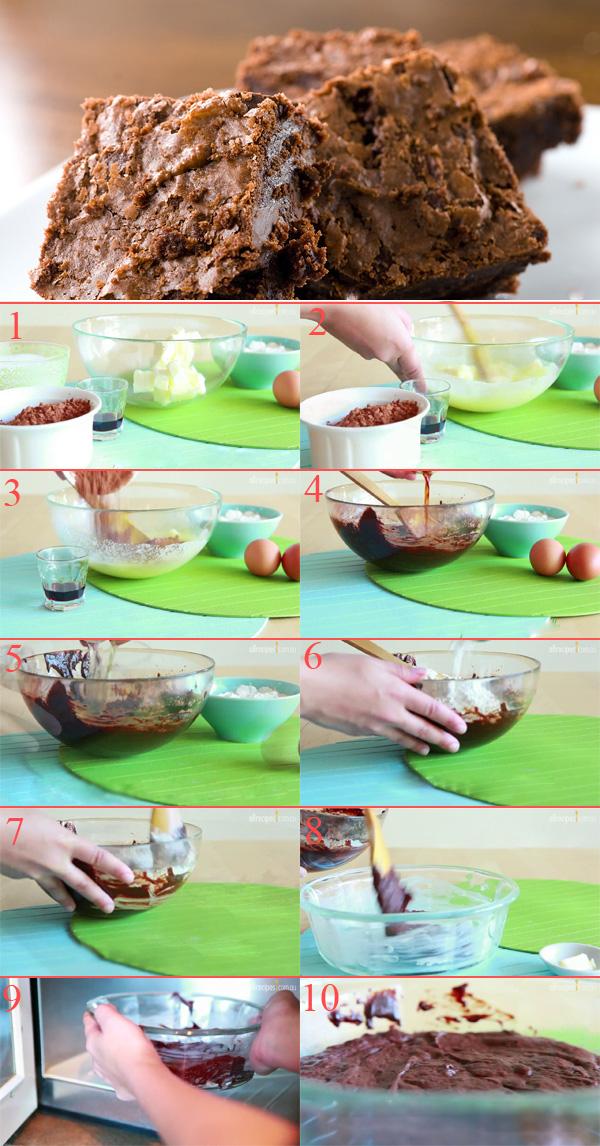 Hướng dẫn làm bánh Brownies thơm ngon bằng micro wave