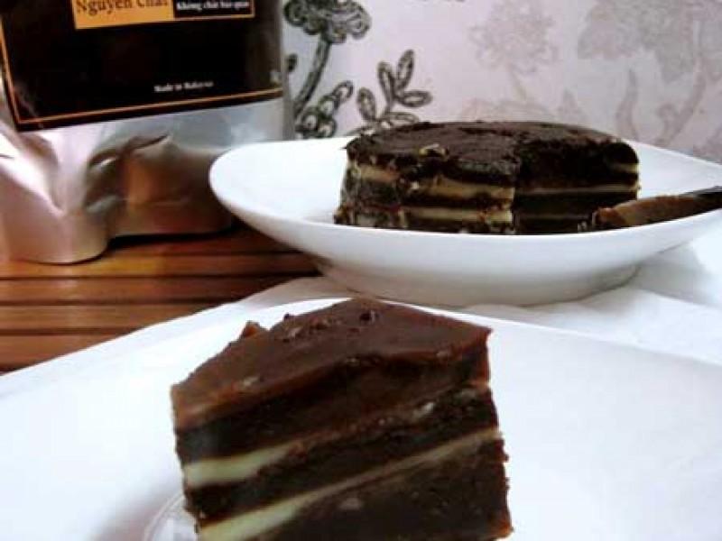 Sáng tạo món bánh da lợn cacao kết hợp ngon vô cùng