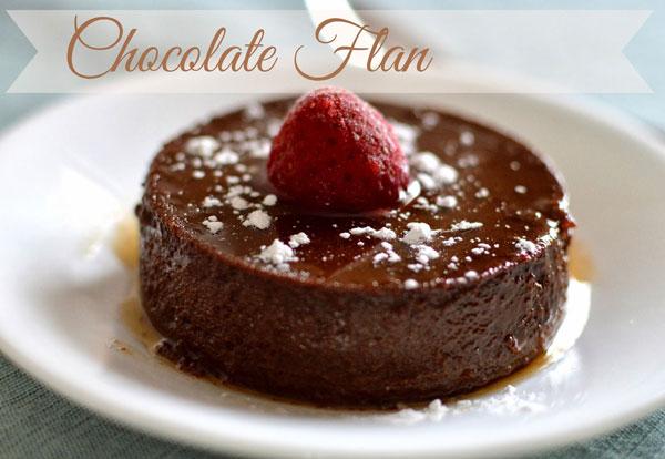 bánh Flan cacao