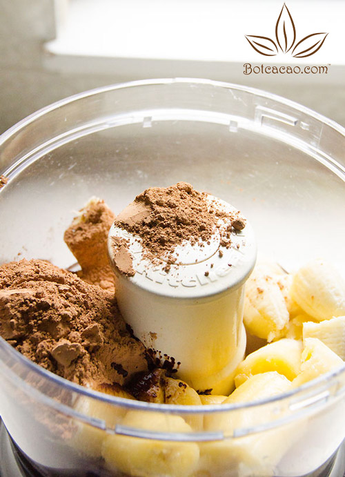 công thức kem chuối socola 1