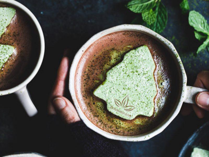 Cacao matcha bạc hà giúp thư giãn tuyệt đối