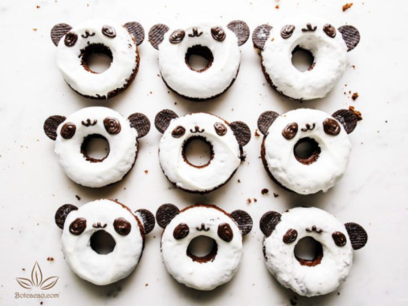 Donut chocolate gấu siêu đáng yêu
