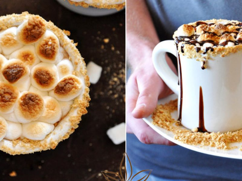 Pha ca cao sữa nóng marshmallow tuyệt ngon
